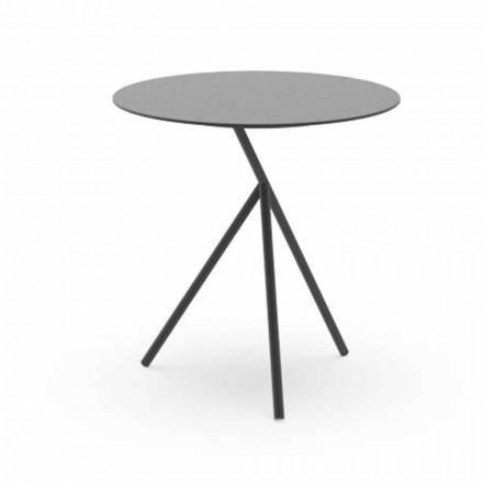 Okrągły stolik ogrodowy w kolorze białym lub grafitowym aluminium - Sofy firmy Talenti