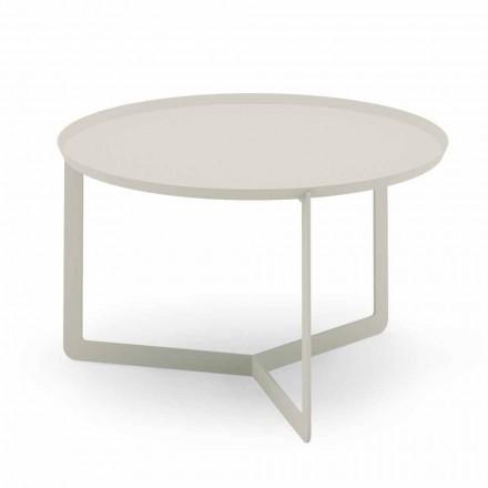 Okrągły stolik kawowy na zewnątrz z konopi lub błota - Stephane