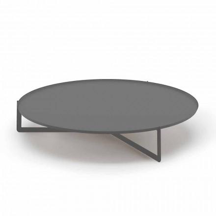 Okrągły stolik kawowy na zewnątrz z wysokiej jakości metalu Made in Italy - Stephane