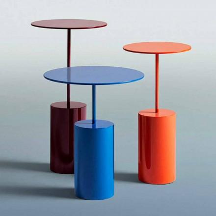 Nowoczesny design okrągły kolorowy stół do salonu - koktajl