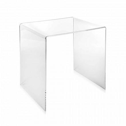 Nowoczesny design przezroczysty stolik 40x40cm Terry Small, wyprodukowany we Włoszech
