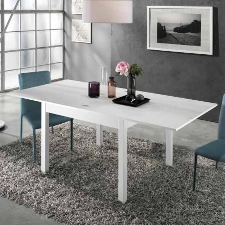 Stół rozkładany do 2 m od 10 krzeseł o nowoczesnym designie z drewna - Tuttetto