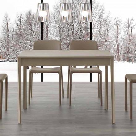 Stół rozkładany o nowoczesnym designie z nogami z litego drewna Empoli