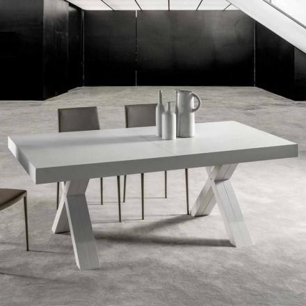 Wysuwany stół z blatem z drewna klejonego - Atessa