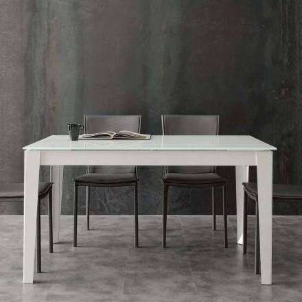 Stół rozkładany Baltimora z blatem ze szkła hartowanego