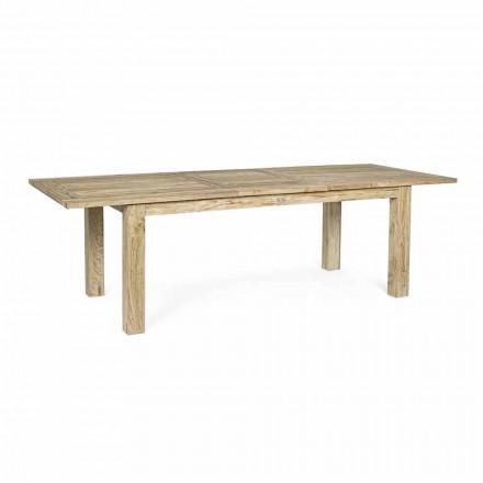 Rozkładany stół ogrodowy do 260 cm w drewnie, 8 miejsc Homemotion - Gismondo