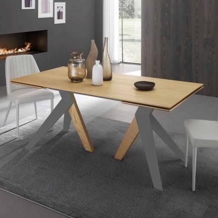 Stół rozkładany z blatem z drewna dębowego Daryl, wyprodukowany we Włoszech