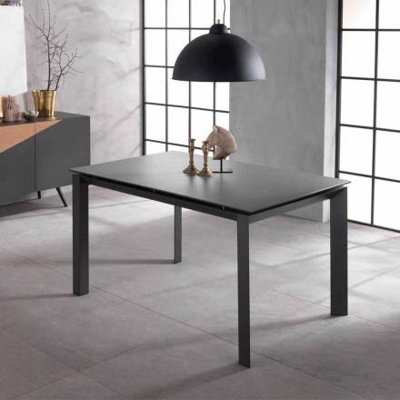 Rozsuwany stół projektowy z ceramicznym blatem i mdf, Nosate