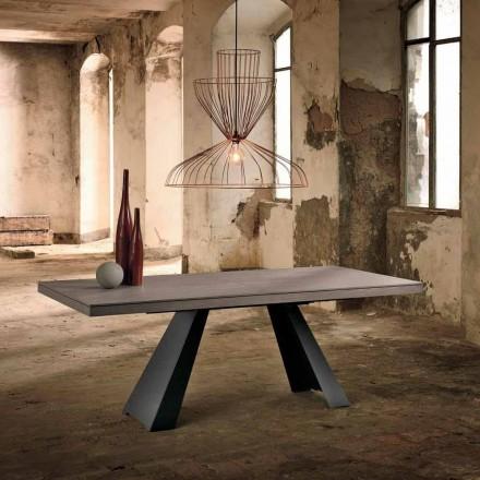 Designowalny rozkładany stół w drewnie dębowym z Włoch, Zerba