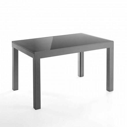 Designowalny rozkładany stół ze szkła i metalu - Guerriero