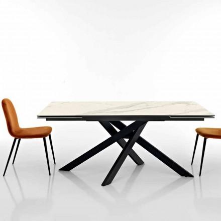 Rozkładany stół z ceramiki szklanej produkowany we Włoszech, Dionigi
