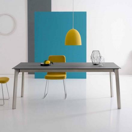 Designowalny rozkładany stół z aluminium, wyprodukowany we Włoszech - Arnara