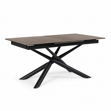 Stół rozkładany do 220 cm z ceramiki i stali Homemotion - Brianza