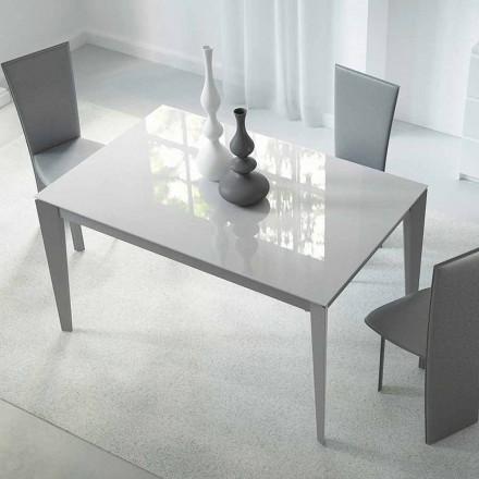 Wysuwany stół do 220 cm ze szkła i stali Made in Italy - Numana
