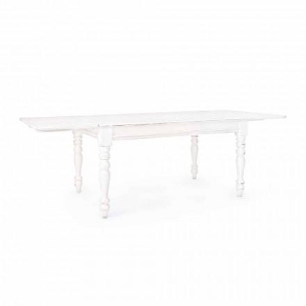 Klasyczny rozkładany stół do 240 cm z drewna Mango Homemotion - Tongo