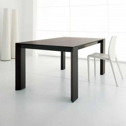 Rozkładany stół do 245 cm z drewna dębowego Wengè według projektu - Ipanemo