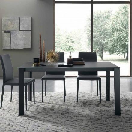 Wysuwany stół do 250 cm ze szklanym blatem Made in Italy - Pitagora
