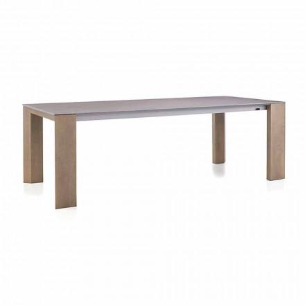 Rozkładany stół do 300 cm w ceramicznych i drewnianych nogach - Ipanemo