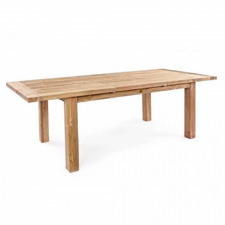 Homemotion - rozkładany stół ogrodowy z drewna tekowego Hunter do 250 cm