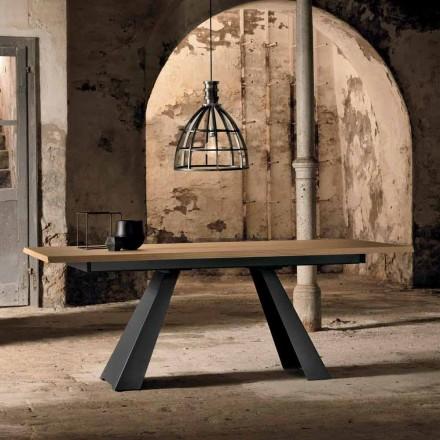 Nowoczesny stół rozkładany z drewna dębowego wykonany we Włoszech Zerba