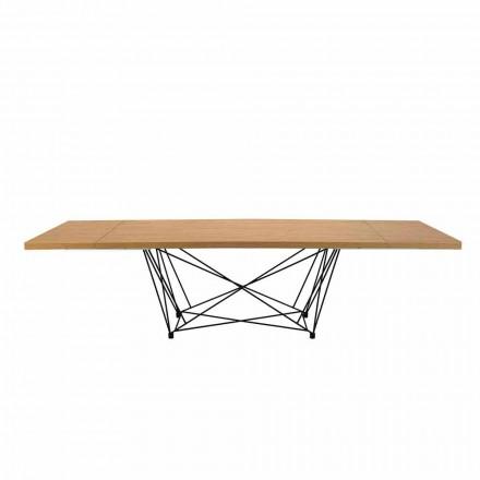 Nowoczesny rozkładany stół 14 miejsc z blatem laminowanym Made in Italy - Ezzellino