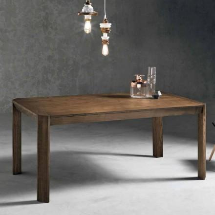 Nowoczesny rozkładany stół z trapezowymi nogami w jesionowym drewnie, Parre