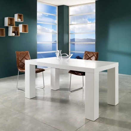 Stół rozkładany w wykończeniu biały mat model Demy
