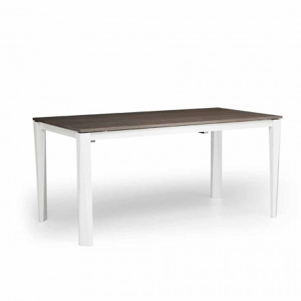 Stół rozkladany drewniany w kolorze białym made in Italy, Medicina