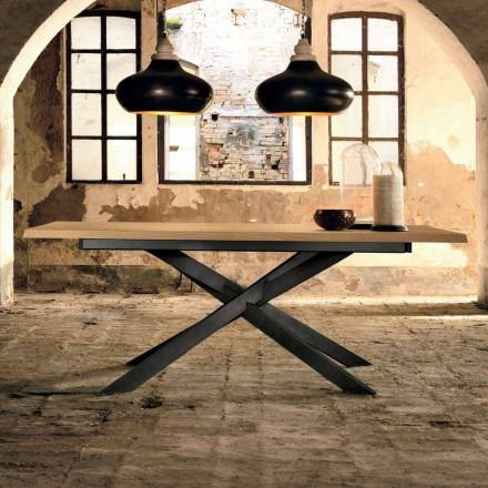 Stół rozkładany z drewna dębowego wykonany we Włoszech, Oncino