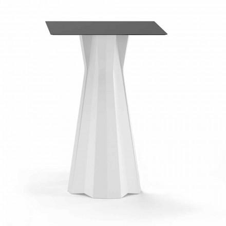 Wysoki stół z blatem HPL i podstawą z polietylenu Made in Italy - Tinuccia