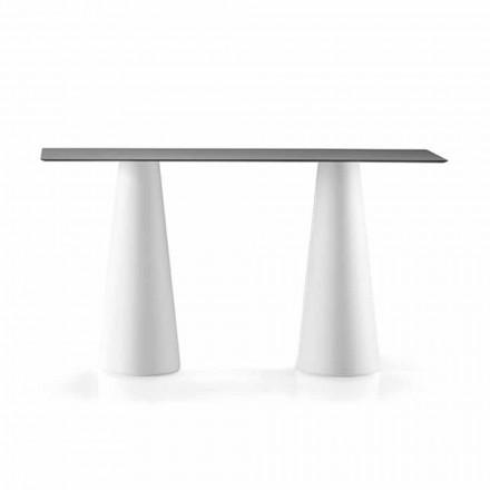 Wysoki stół na zewnątrz z prostokątnym blatem z Hpl Made in Italy - Forlina
