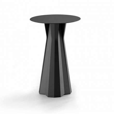 Wysoki stół z polietylenu z okrągłym blatem HPL Made in Italy - Tinuccia