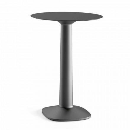 Okrągły wysoki stół z polietylenu z blatem HPL Made in Italy - Pito