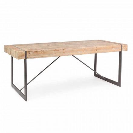 Stół z drewna jodłowego Homemotion Industrial Style - Wallie