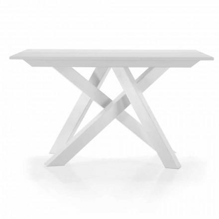 Wysuwana konsola stołowa do 325 cm w melaminie Made in Italy - Settimmio