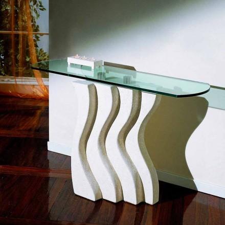Stół /konsola z kamienia Vicenza i kryształu, model Ciril