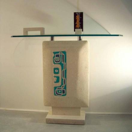 Stół/konsola prostokątny z kamienia Vicenza, model Soter