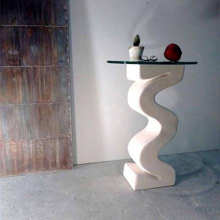 Stół /konsola okrągły z kamienia Vicenza model Babylas