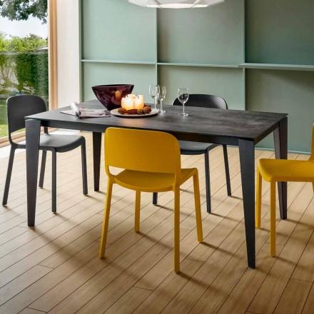 Rozkładany stół kuchenny z cennej ceramiki Laminam Made in Italy - Efisto