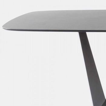Ceramiczny i metalowy stół kuchenny wykonany we Włoszech - art