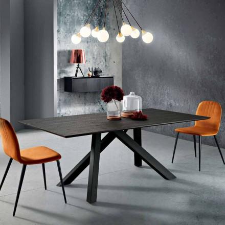 Stół z drewna MDF i metalu wykonany we Włoszech, Wilmer