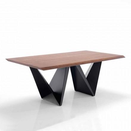 Nowoczesny design stołu w formacie Mdf i metalu - Helene