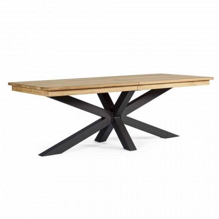 Stół rozkładany do 300 cm z drewna tekowego, Homemotion - Selenia