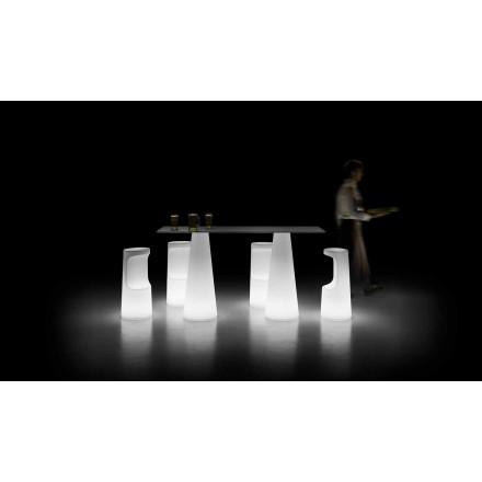 Zaprojektuj stół zewnętrzny ze świecącą podstawą z diodami LED Made in Italy - Forlina