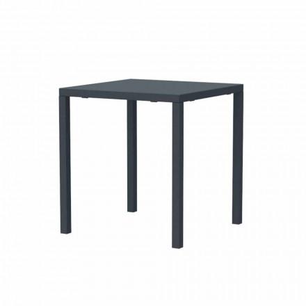 Nowoczesny metalowy stół zewnętrzny do układania w stosy Made in Italy - Aila
