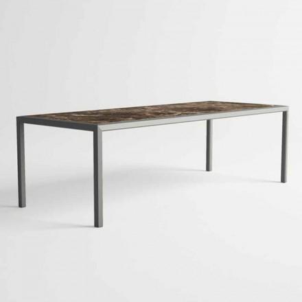 Stół zewnętrzny z aluminium o nowoczesnym designie do ogrodu - Mississippi2