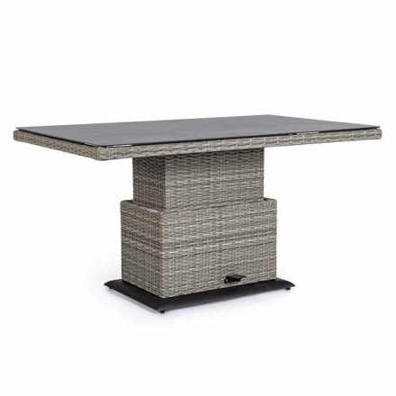 Stół ogrodowy z włókna ceramicznego i syntetycznego, regulowana wysokość - Claire