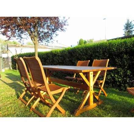 Stół z drewna jodłowego w stylu rustykalnym Made in Italy - Clinio