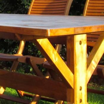 Rustykalny stolik z drewna jodłowego na zewnątrz Made in Italy - Clinio