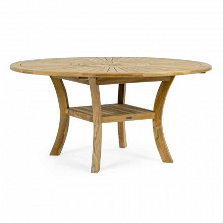 Tekowy stół ogrodowy z obrotowym centralnym blatem, Homemotion - Dimitris